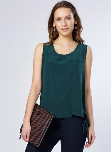 Fabrika Kolsuz Askılı Bluz Yeşil
